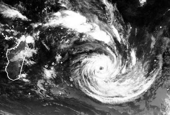 Severe tropical storm Corentin, IODC Geo sat 23 Jan 2016 06:00