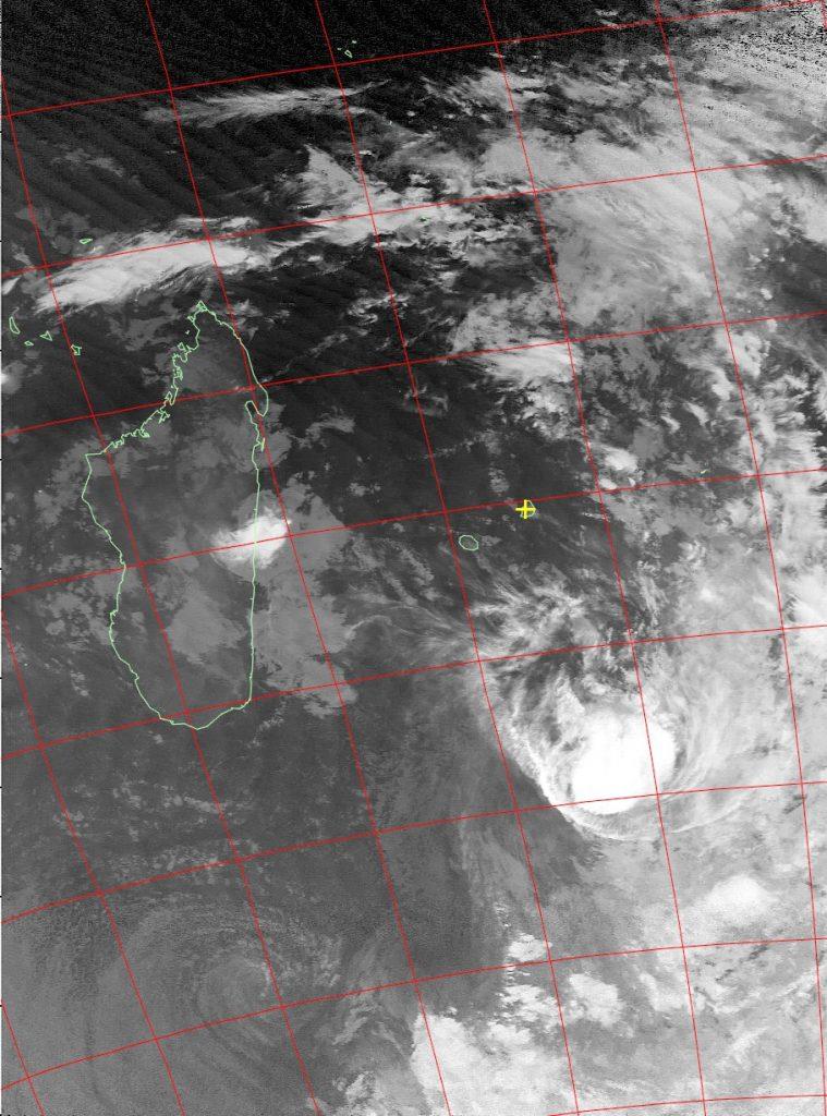 Moderate tropical storm Daya, Noaa 15 IR 12 Feb 2016 05:47