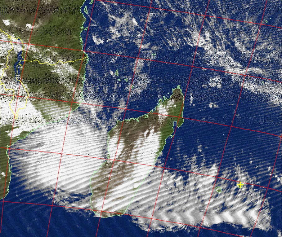 Moderate tropical storm, Noaa 15 IR 13 Feb 2017 19:01