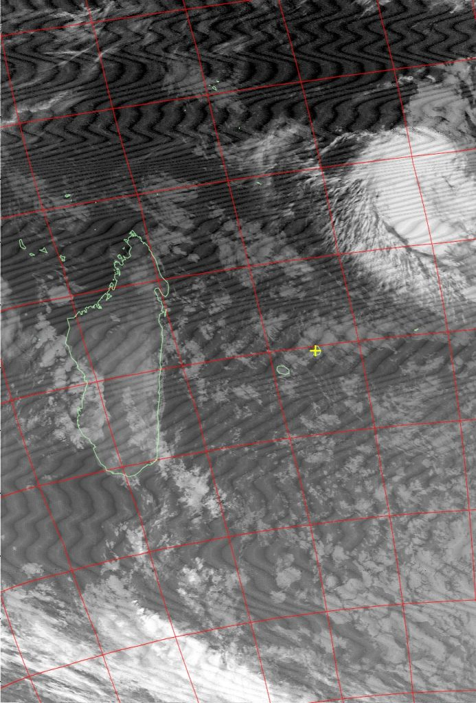Tropical disturbance, Noaa 15 IR 17 Jul 2016 06:00