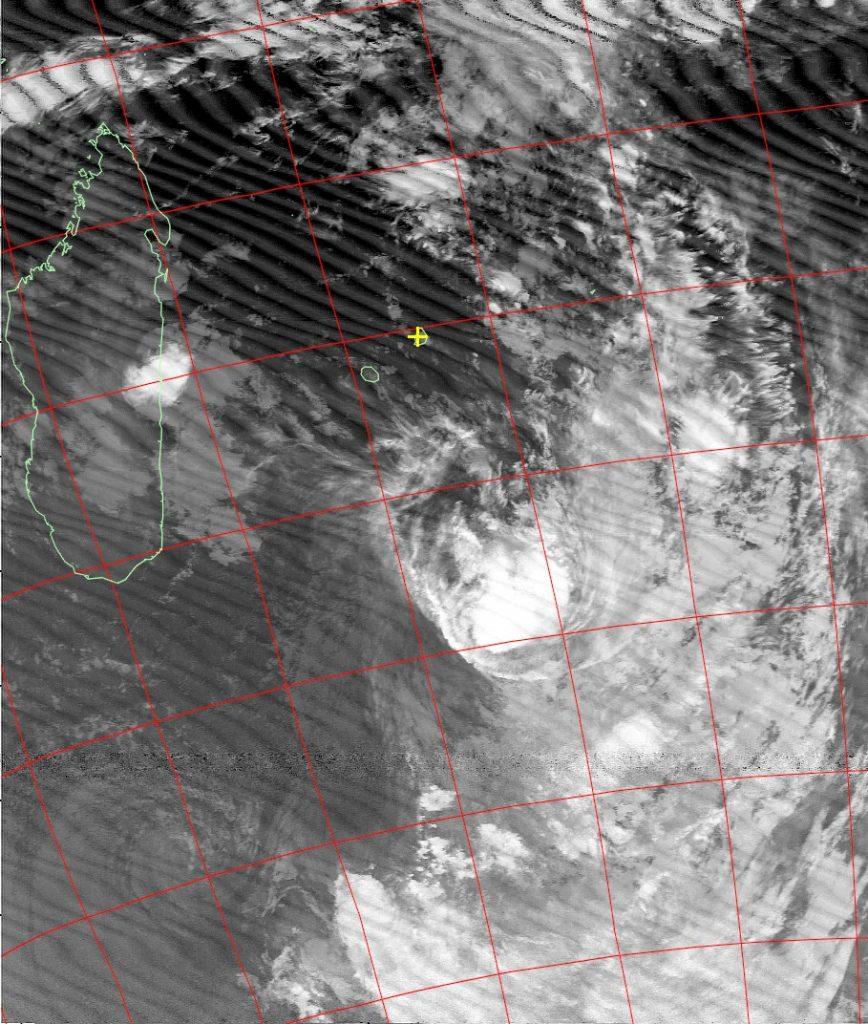 Moderate tropical storm Daya, Noaa 18 IR 12 Feb 2016 05:28