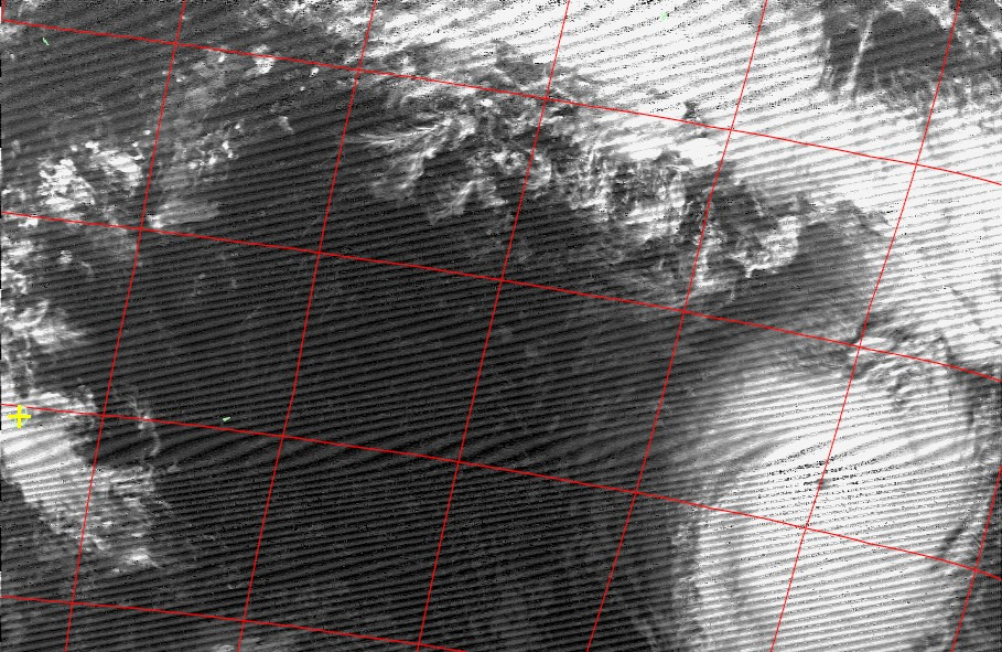 Intense tropical cyclone Uriah, Noaa 18 IR 17 Feb 2016 17:05