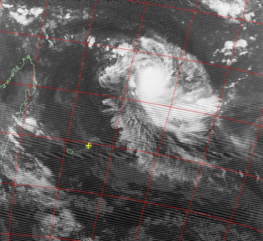 Tropical cyclone Fantala, Noaa 18 IR 14 Apr 2016 17:49