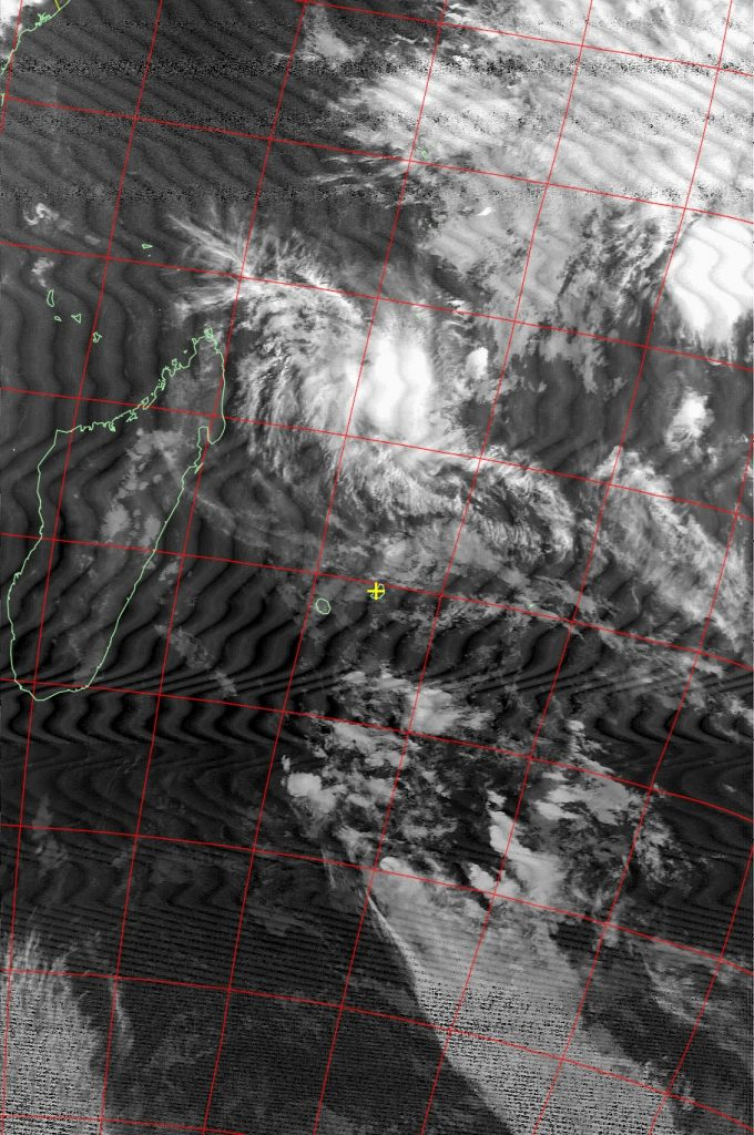 Severe tropical cyclone Fantala, Noaa 18 IR 21 Apr 2016 18:09