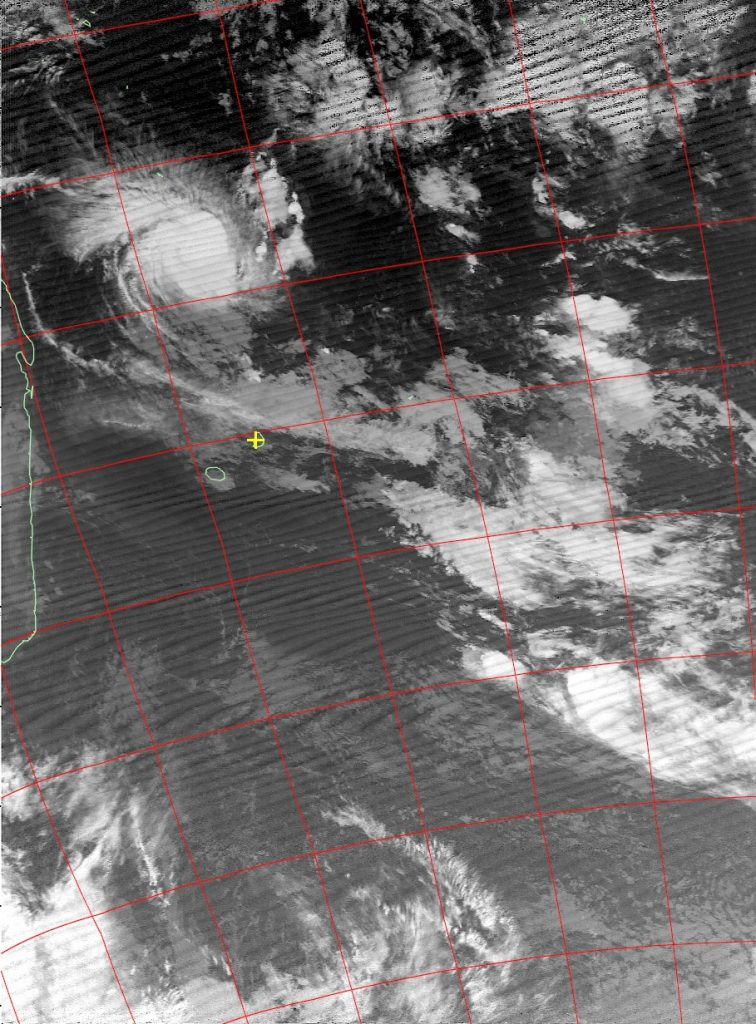 Tropical cyclone Fantala, Noaa 18 IR 22 Apr 2016 05:24
