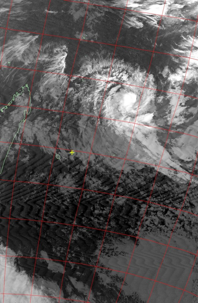 Moderate tropical storm Abela, Noaa 18 IR 17 Jul 2016 18:08