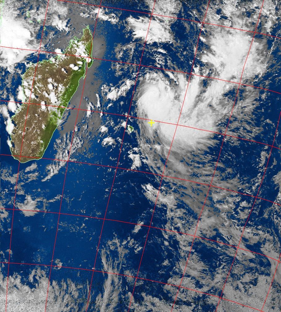 Severe tropical storm Carlos, Noaa 19 VIS 05 Feb 2017 15:24