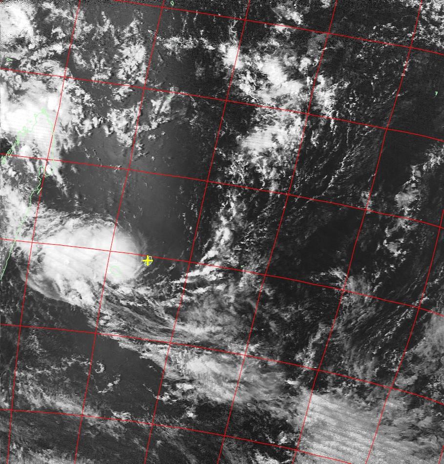Moderate tropical storm Carlos, Noaa 19 VIS 07 Feb 2017 15:02