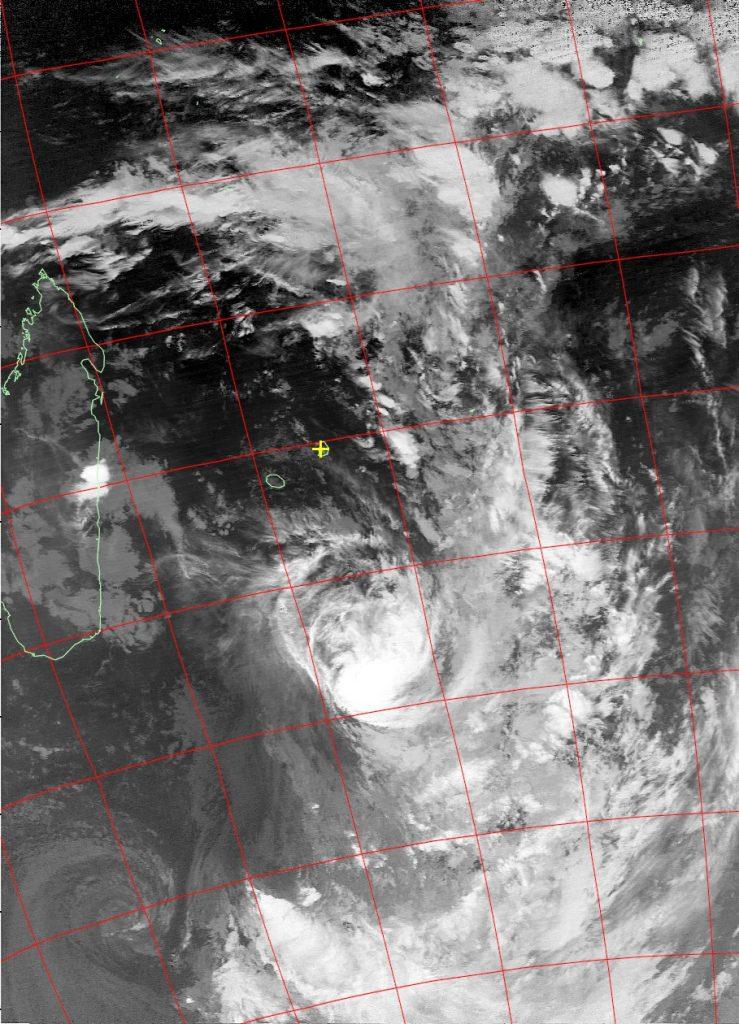 Moderate tropical storm Daya, Noaa 19 IR 12 Feb 2016 02:12
