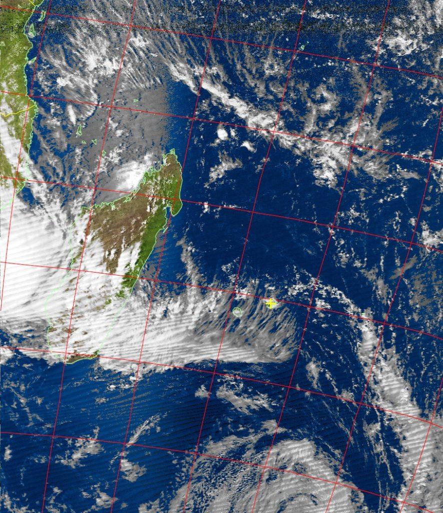 Moderate tropical storm, Noaa 19 VIS 13 Feb 2017 15:34