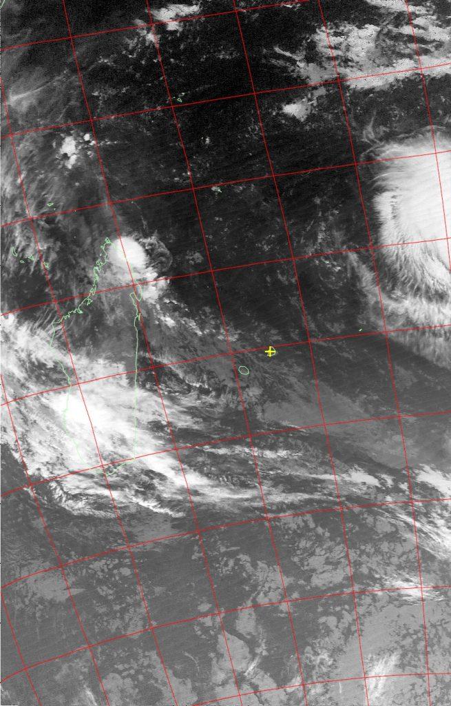 Moderate tropical storm Fantala, Noaa 19 IR 12 Apr 2016 02:36