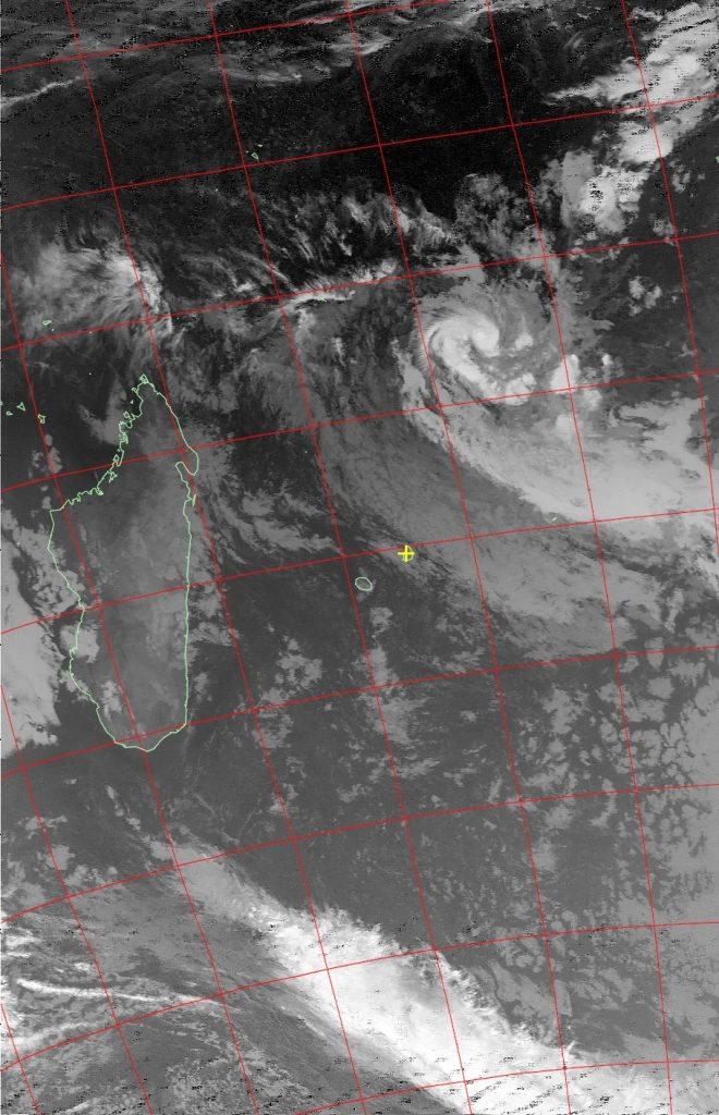 Moderate tropical storm Abela, Noaa 19 IR 18 Jul 2016 02:41
