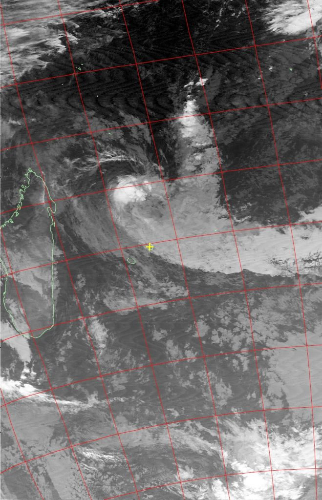 Moderate tropical storm Abela, Noaa 19 IR 19 Jul 2016 02:30