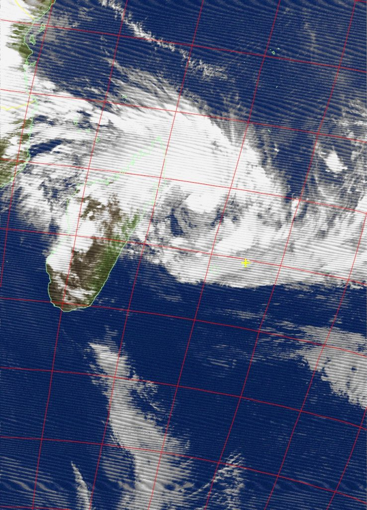 Moderate Tropical Storm Ava, Noaa 15 IR 03 Jan 2018 19:02
