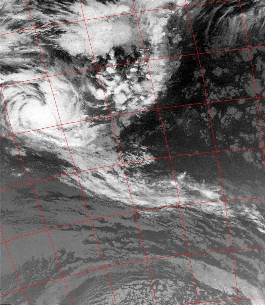 Moderate Tropical Storm Berguitta, Noaa 15 IR 14 Jan 2018 05:22