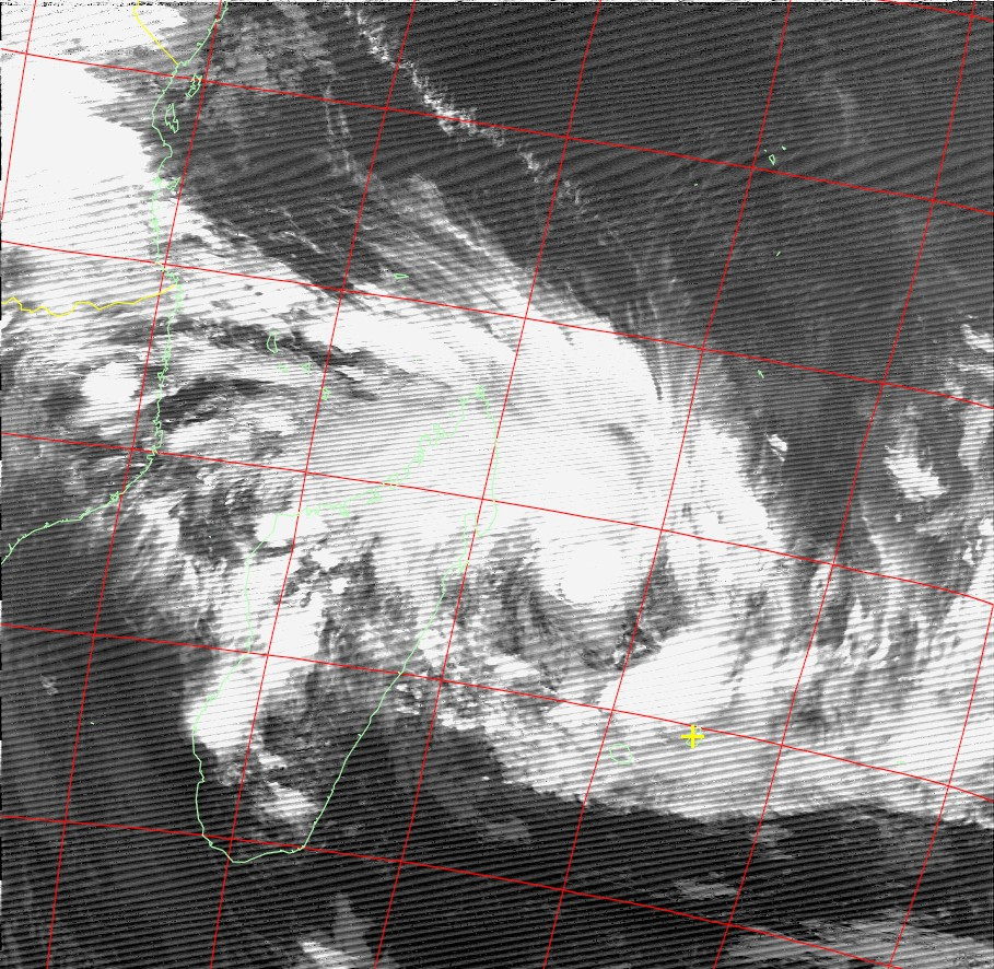 Moderate Tropical Storm Ava, Noaa 18 IR 03 Jan 2018 20:09
