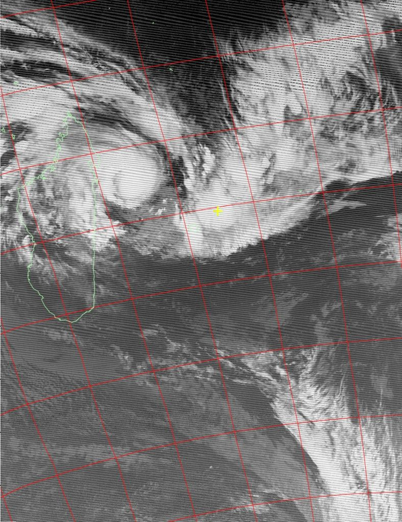 Moderate Tropical Storm Ava, Noaa 18 IR 04 Jan 2018 07:24