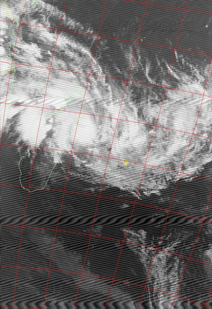 Severe Tropical Storm Ava, Noaa 18 IR 04 Jan 2018 19:58