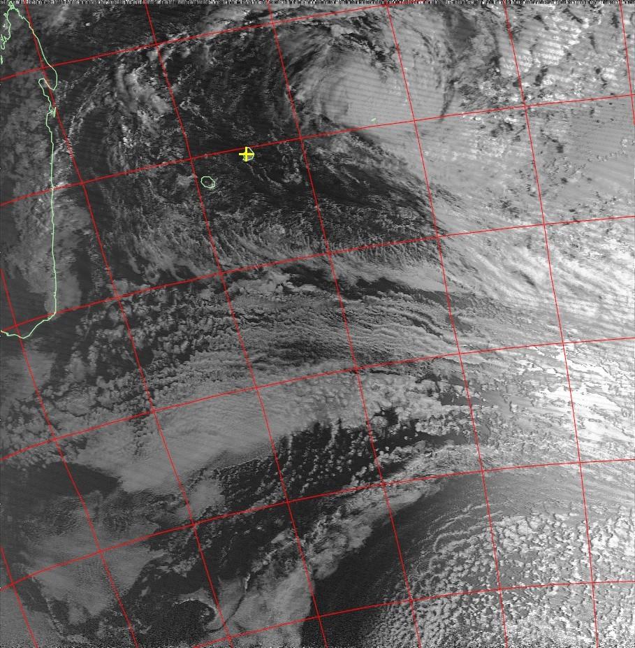 Moderate Tropical Storm Berguitta, Noaa 18 IR 14 Jan 2018 07:09