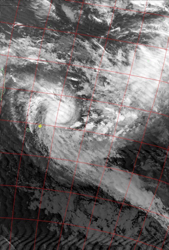 Tropical Cyclone Berguitta, Noaa 18 IR 16 Jan 2018 19:19