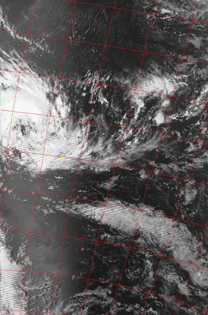 Moderate Tropical Storm Ava, Noaa 19 VIS 03 Jan 2018 15:35