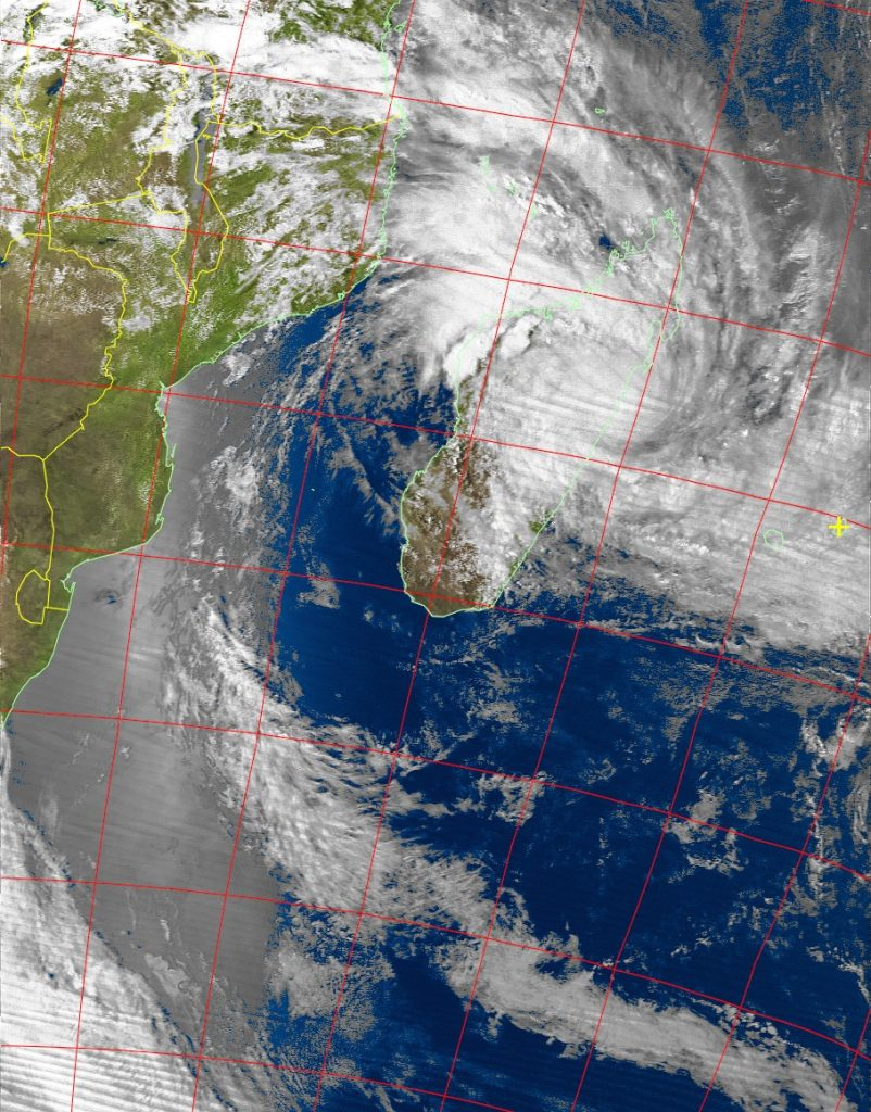 Tropical Cyclone Ava, Noaa 19 VIS 05 Jan 2018 16:53
