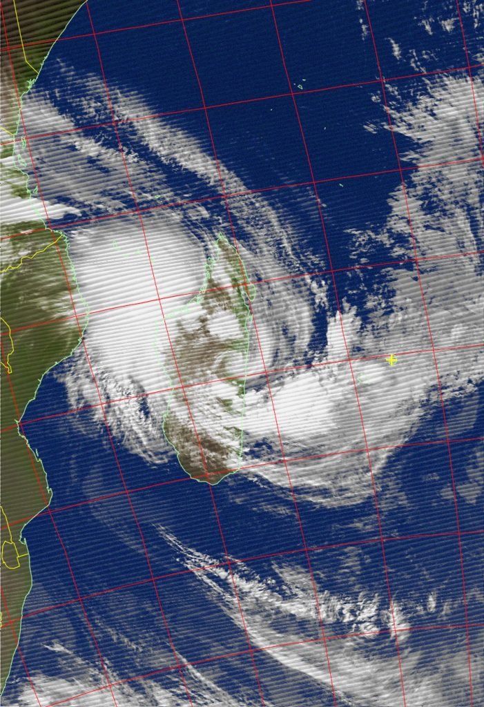 Overland, Tropical Cyclone Ava, Noaa 19 IR 06 Jan 2018 04:08