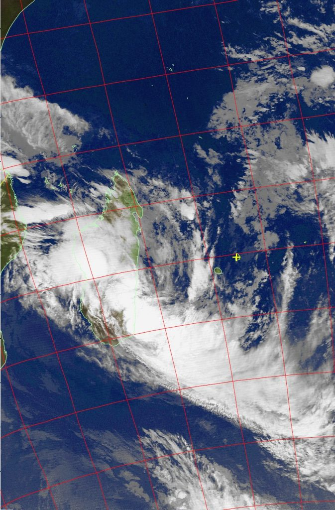 Overland, Tropical Cyclone Ava, Noaa 19 IR 07 Jan 2018 03:56