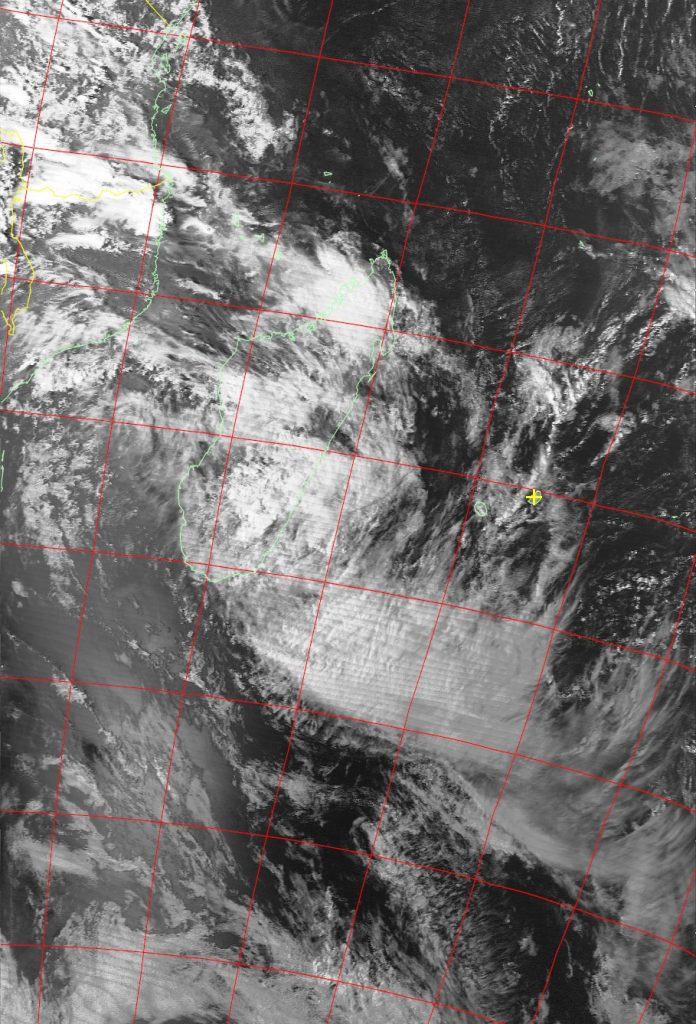 Moderate Tropical Storm Ava, Noaa 19 VIS 07 Jan 2018 16:30
