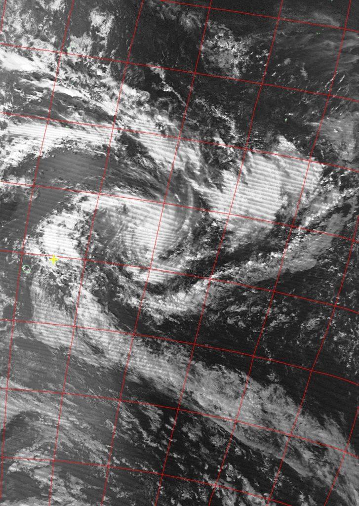 Moderate Tropical Storm Berguitta, Noaa 19 VIS 13 Jan 2018 15:21