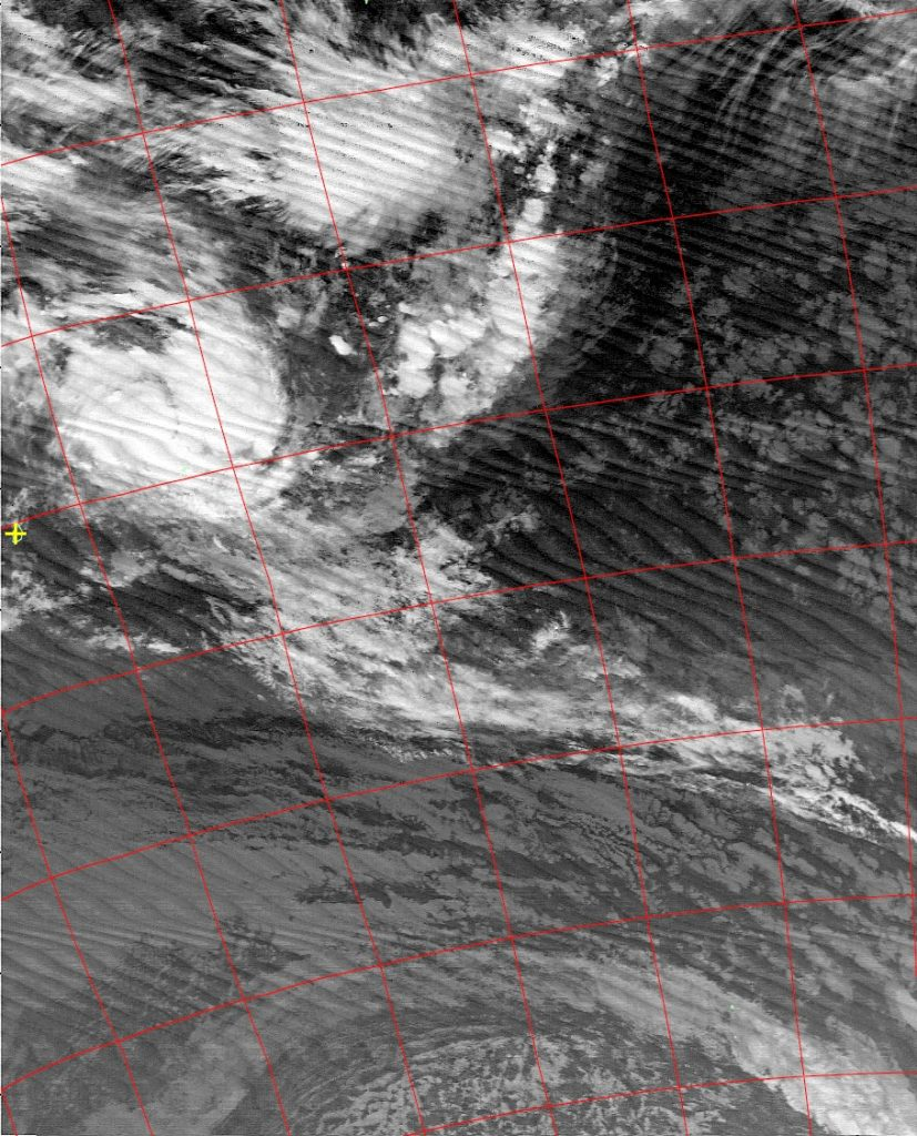 Moderate Tropical Storm Berguitta, Noaa 19 IR 14 Jan 2018 02:37