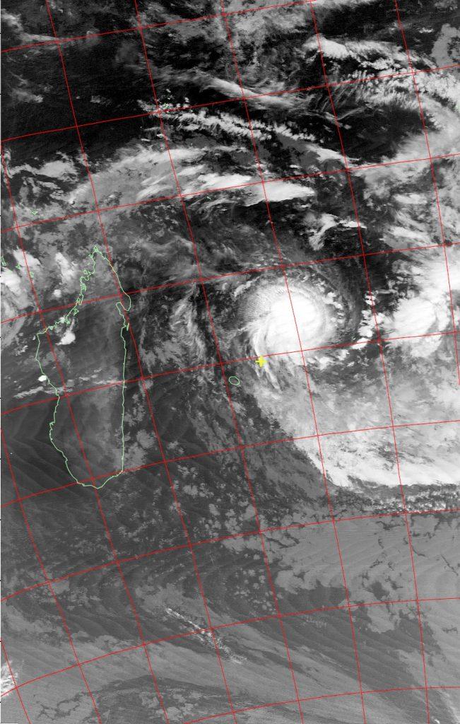 Tropical Cyclone Berguitta, Noaa 19 IR 17 Jan 2018 03:41