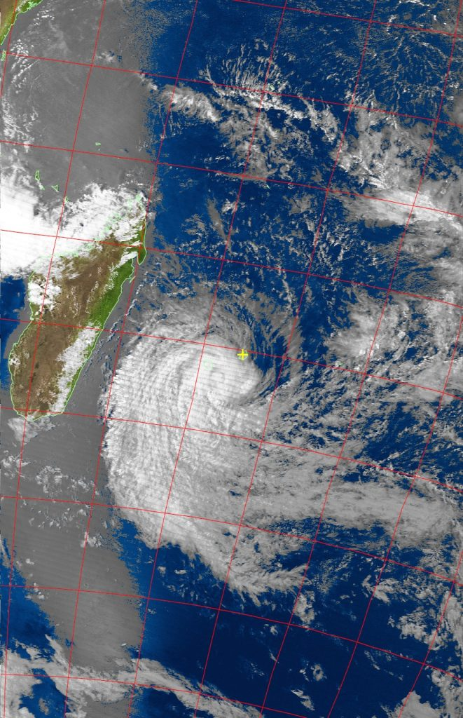 Severe Tropical Storm Berguitta, Noaa 19 VIS 18 Jan 2018 16:03