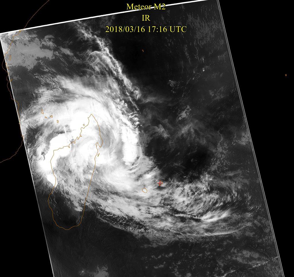 Severe Tropical Storm, Meteor-M N2 IR 16 Mar 2018 21:16