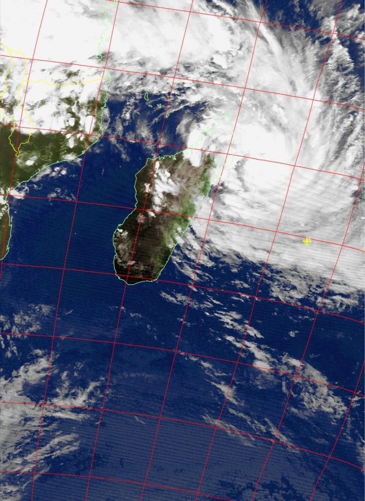 Moderate Tropical Storm Dumazile, Noaa 15 IR 03 Mar 2018 19:25
