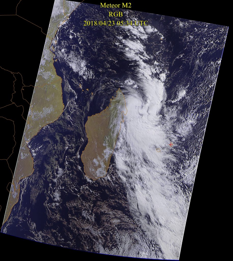 Tropical Depression, Meteor-M N2 23 Apr 2018 09:34