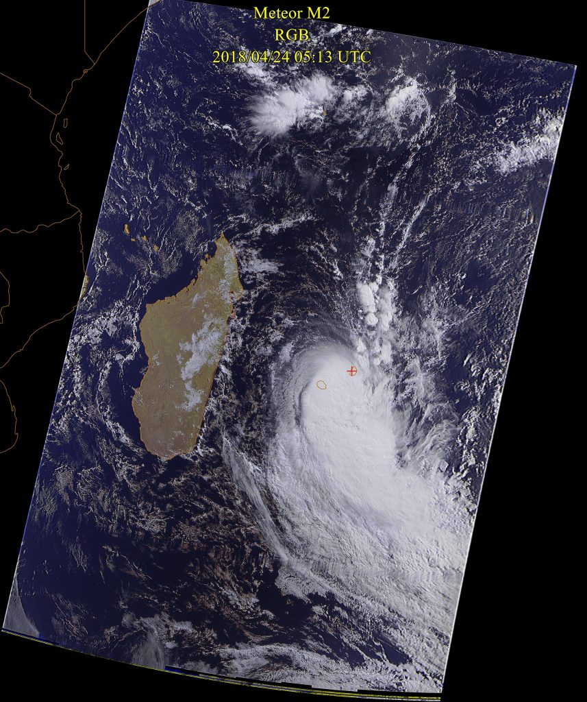 Severe Tropical Storm Fakir, Meteor-M N2 24 Apr 2018 09:13